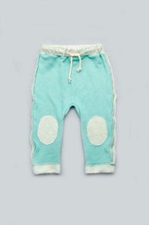 штаны трехнитка голубые для малышей