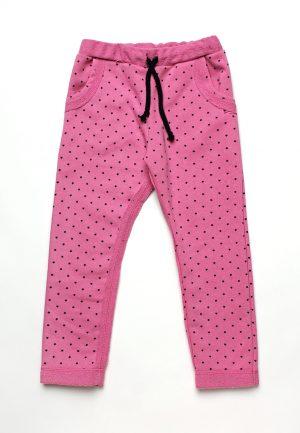 детские розовые штаны в звездочку