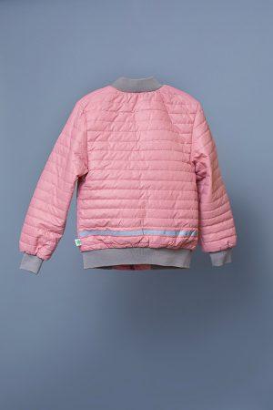 детская стеганая курточка розовая недорого