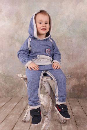 спортивный костюм трехнитка кофта с капюшоном штаны для мальчика