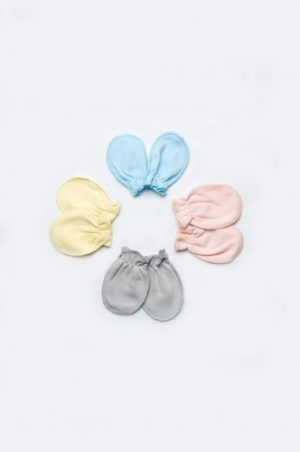 царапки однотонные интерлок для новорожденных цвет в ассортименте