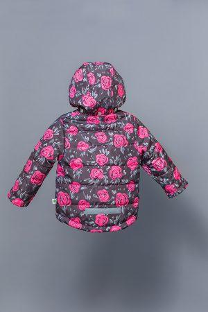 утепленная детская куртка розы недорого