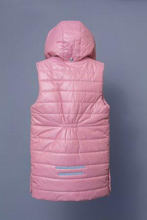 удлиненная детская жилетка розовая купить Харьков