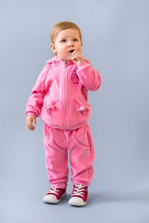 купить велюровый розовый костюм для девочки