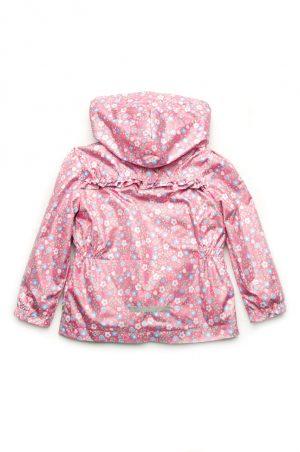 детская розовая ветровка в цветочек купить с доставкой