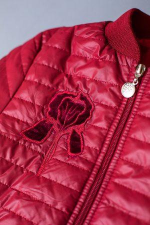 яркая курточка деми для девочки на резинке с манжетами