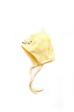 недорогая шапка на завязках для девочки деми