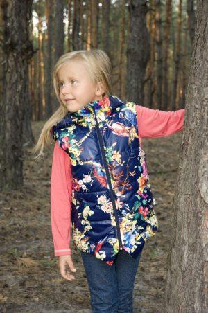 яркая удлиненная жилетка для девочки купить Харьков