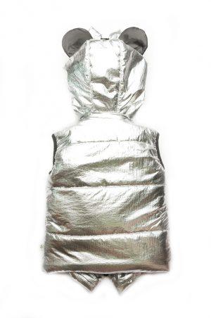 купить серебристый жилет для девочки