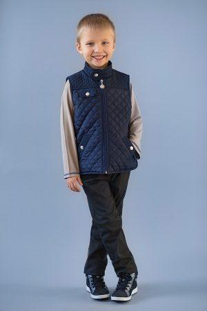 стеганый жилет для мальчика синий купить Киев