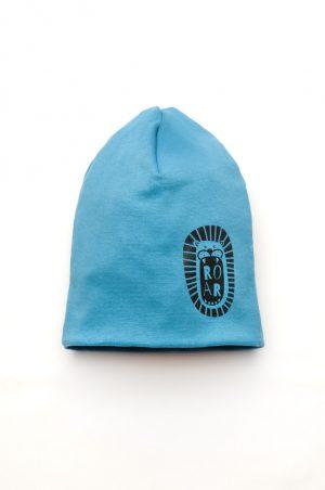 демисезонная шапочка для мальчика деми голубая Киев