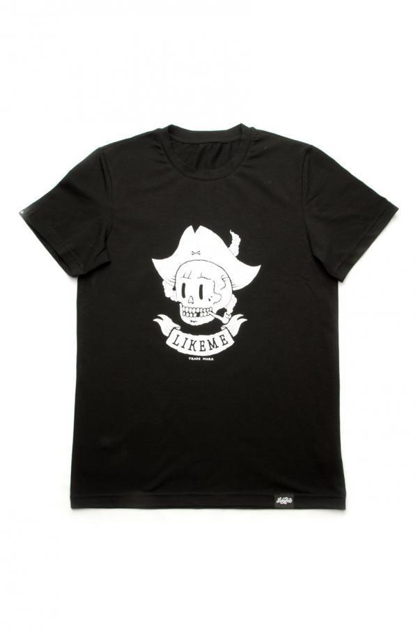 футболка черная мужская с накаткой пират купить Днепр