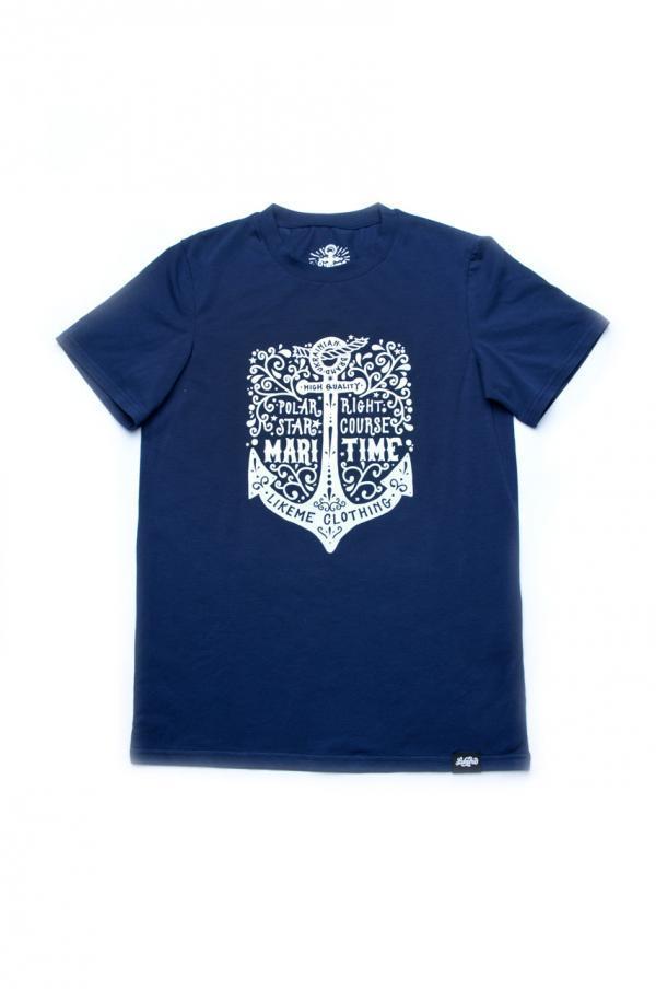 футболка синяя мужская купить недорого