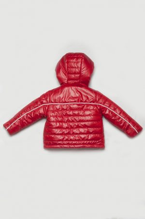 куртка с простежкой красная для мальчика недорого