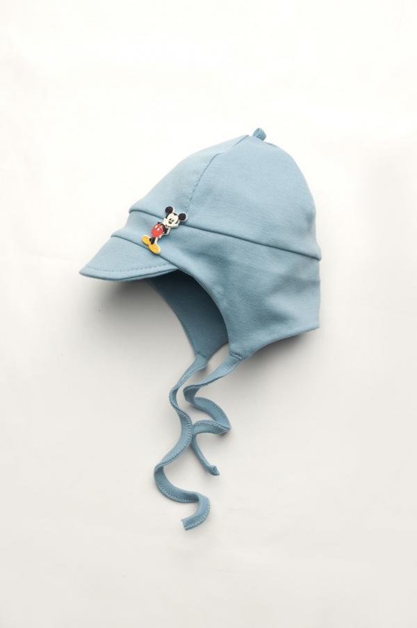 шапка с козырьком для мальчика на завязках Харьков
