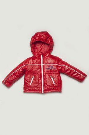 весенняя куртка для мальчика красная купить