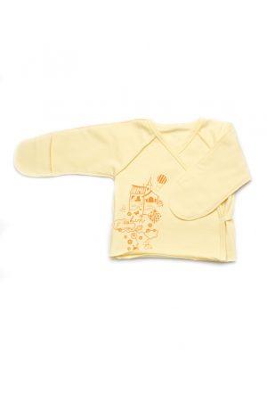 недорогая распашонка для новорожденных с закрытыми рукавами