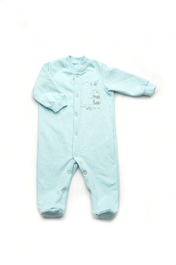 комбинезон для мальчика голубой 100% хлопок