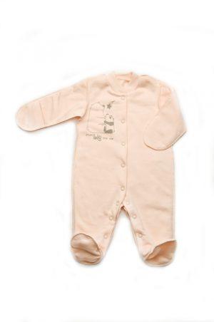 человечек со швами наружу для новорожденной девочки
