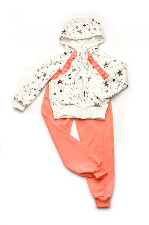 костюм хлопок двунитка для девочки недорого