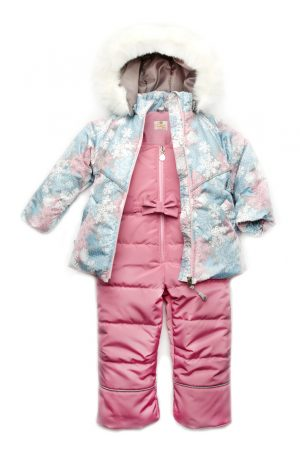 зимняя куртка розовый полукомбинезон для девочки купить Киев