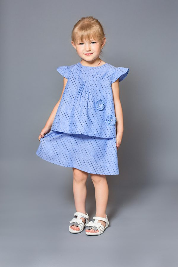 летнее платье для девочки деним купить Харьков