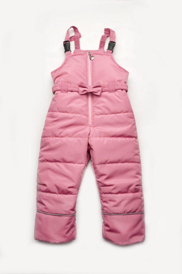полукомбинезон зимний на фастексах розовый