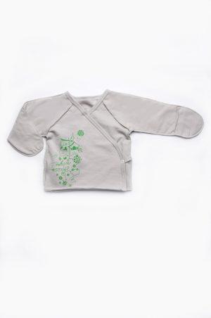 распашонка с закрытыми рукавами для новорожденных