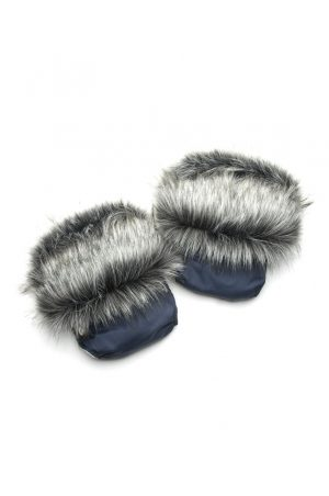 рукавицы на коляску с чернобуркой синие купить Днепр