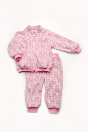 флисовый костюм мишки розовый для девочки недорого