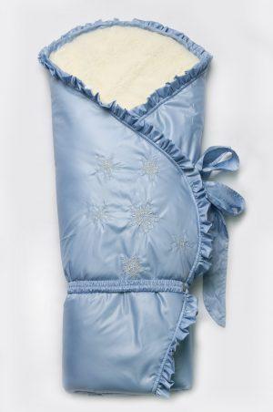 зимний конверт-одеяло голубой купить Киев