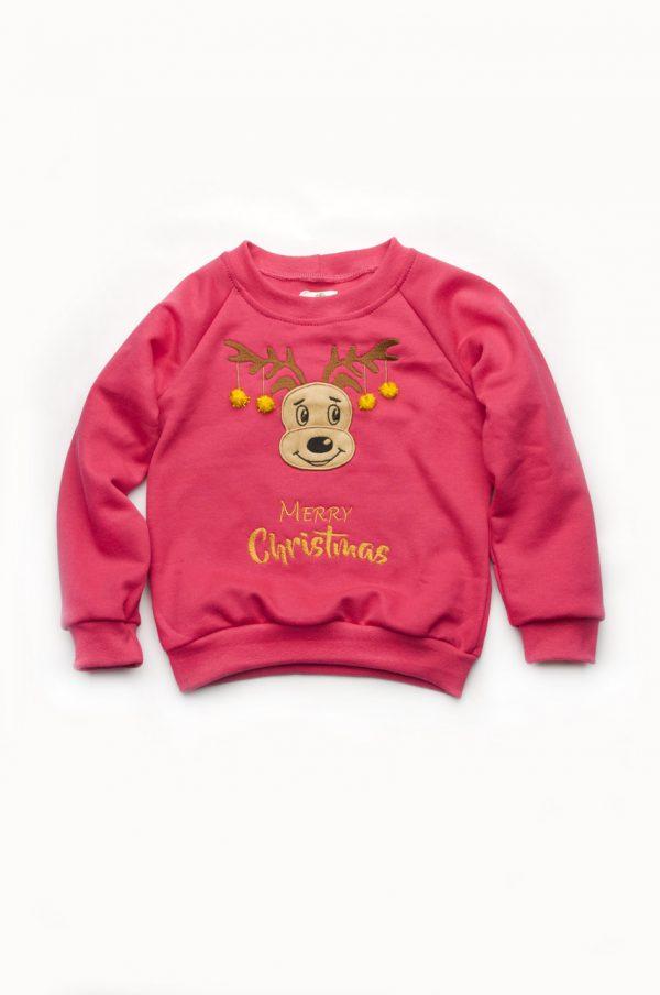 свитшот с рождественской тематикой для девочки недорого