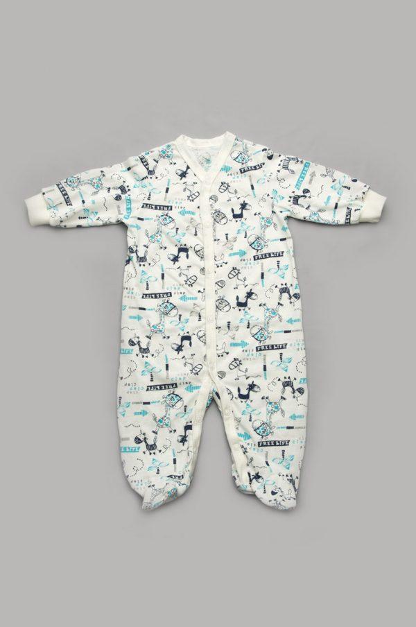удобный комбинезон-человечек для новорожденного