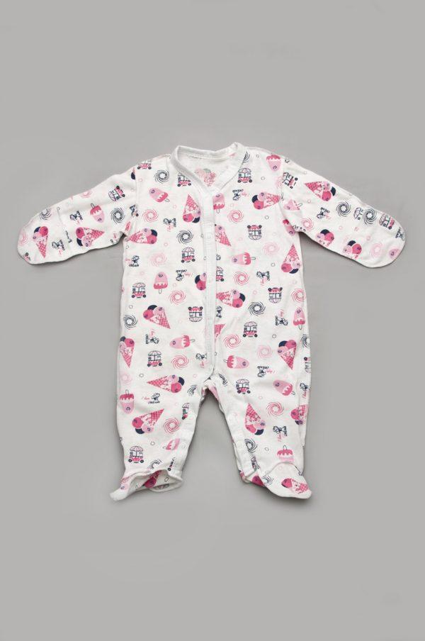 комбинезон для новорожденной 100% хлопок