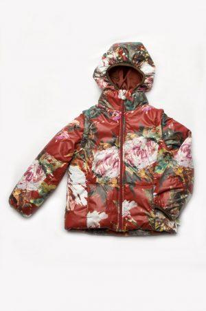 куртка-жилет бордовая для девочки купить недорого