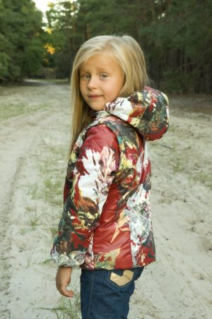 демисезонная куртка-жилет для девочки купить Харьков