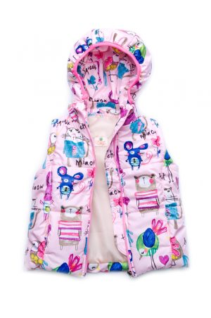 куртка-жилетка розовая для девочки недорого Харьков