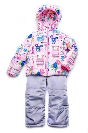 практичная куртка-жилетка для девочки и полукомбинезон деми