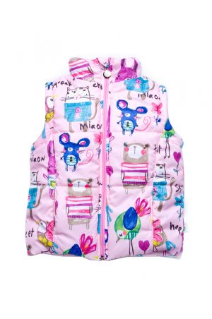 яркая куртка-жилетка для девочки купить