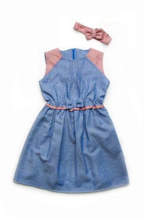 летнее джинсовое платье для девочки