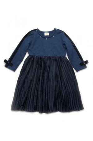 детское платье с юбкой плиссе недорого