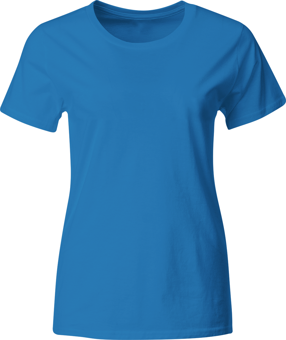 38257f0832543 Женская футболка из стрейч-хлопка синяя купить недорого с доставкой