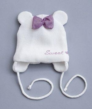 красивая шапка на завязках для девочки недорого
