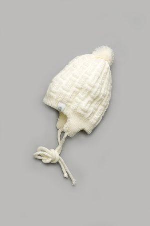 шапочка демисезонная белая недорого