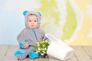 комбинезон для малыша серый с голубым купить Днепр