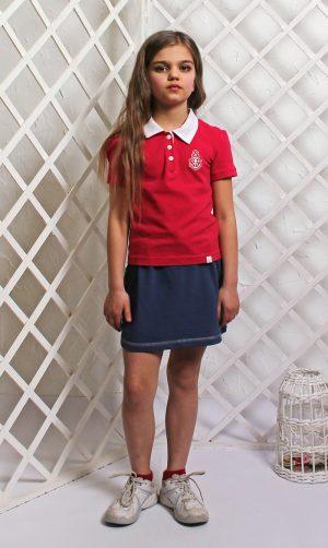 недорогая юбка в спортивном стиле для девочки купить