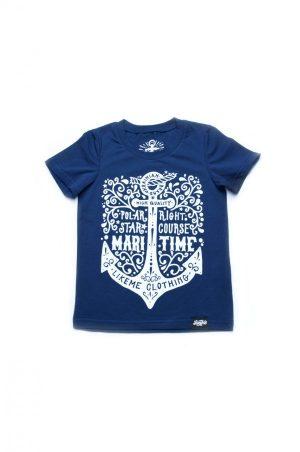 футболка синяя с якорем фэмили лук купить от производителя