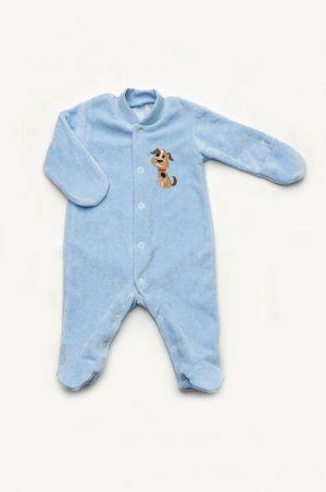 человечек велюровый для новорожденного с закрытыми рукавами доставка