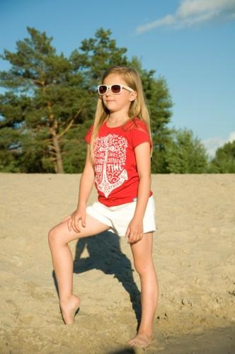 красная футболка фэмили лук для дочки девочки недорого