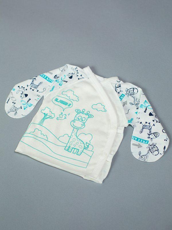 распашонка для новорожденного мальчика принт жираф купить от производителя